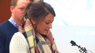 Lindsey Lemke gets applause after bashing MSU President Simon at Larry Nassar sentencing
