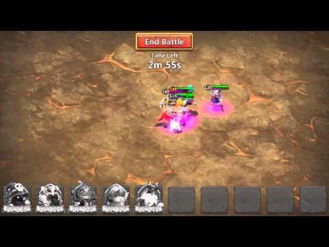 Castle Clash: T3 Boss Perma Stun Using Heavy Blow!