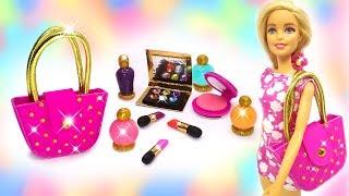 DIY Miniature Makeup Bag for Barbie Dolls. Easy Crafts