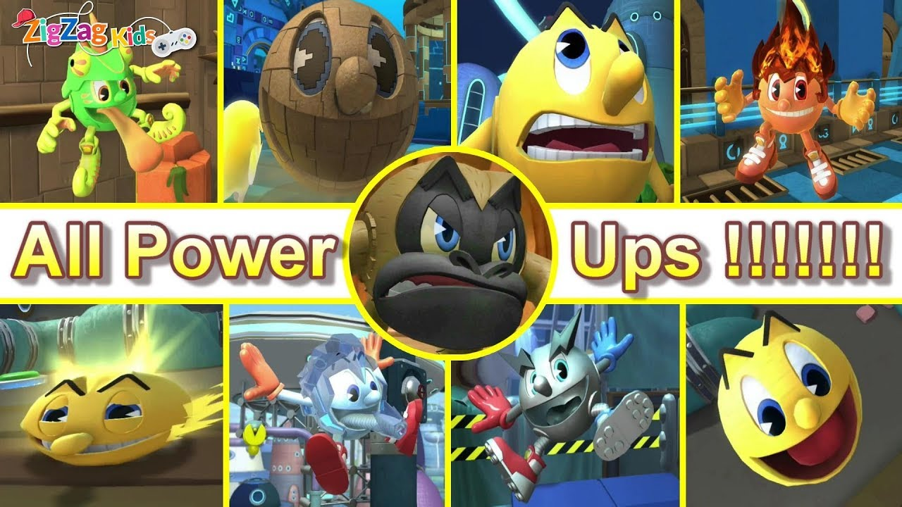 Pac Man The Ghostly Adventures 2 | All Power Ups | ZigZag ...