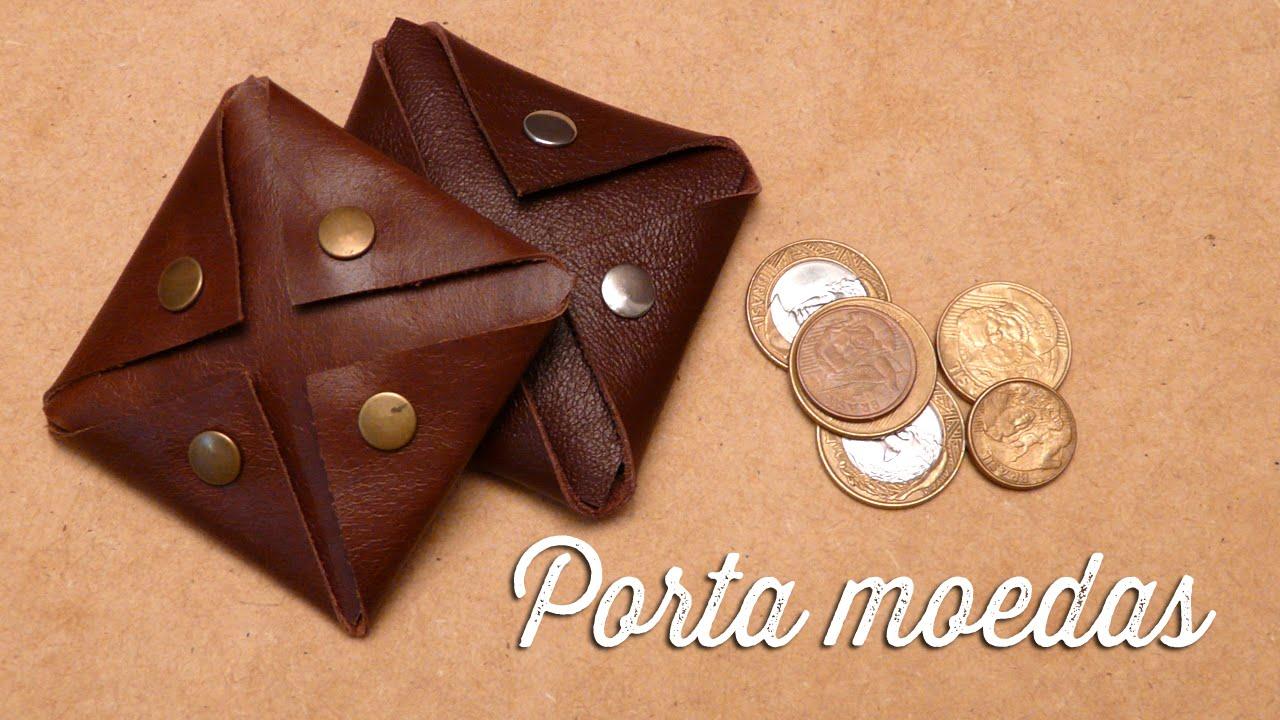 0a87e5179c Porta moedas de couro - YouTube