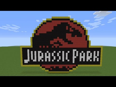How To Make The Jurassic Park Logo In Minecraft Youtube