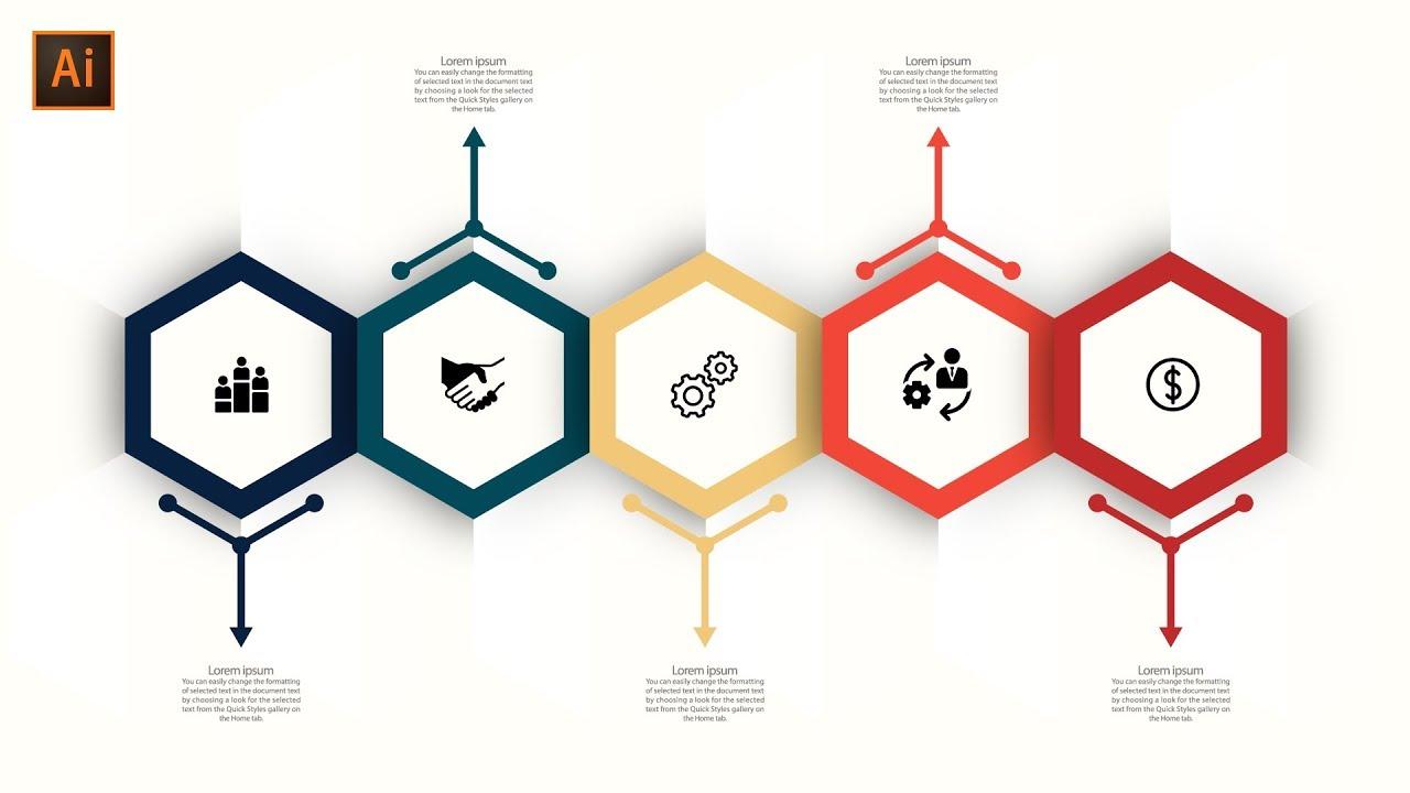 How to Make Best Infographics Design Illustrator Tutorial