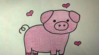 como desenhar porco