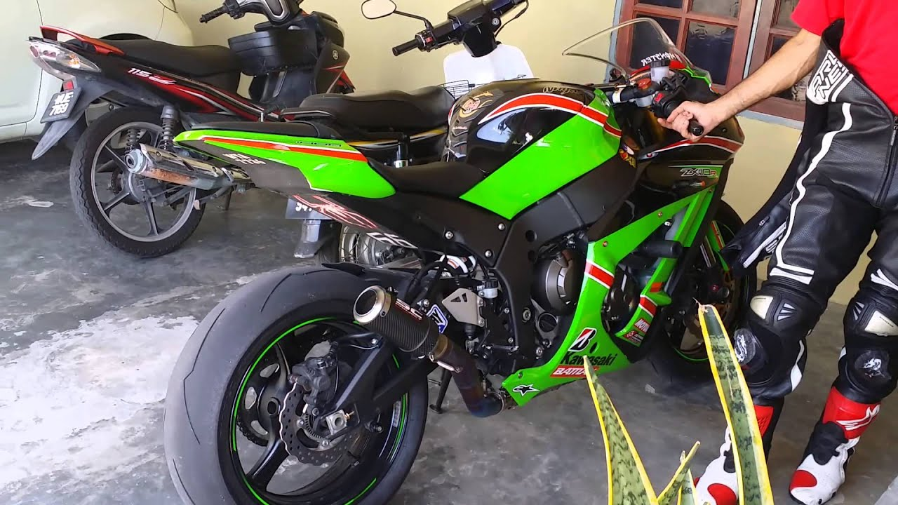 2013 zx10r sc project crt exhaust sound - youtube