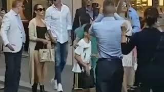 Cristiano ronaldo y Georgina rodríguez por las calles de Milán