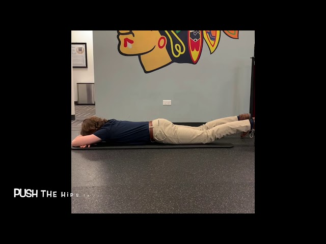 Prone Posterior Pelvic Tilt (Creating a Neutral Spine)