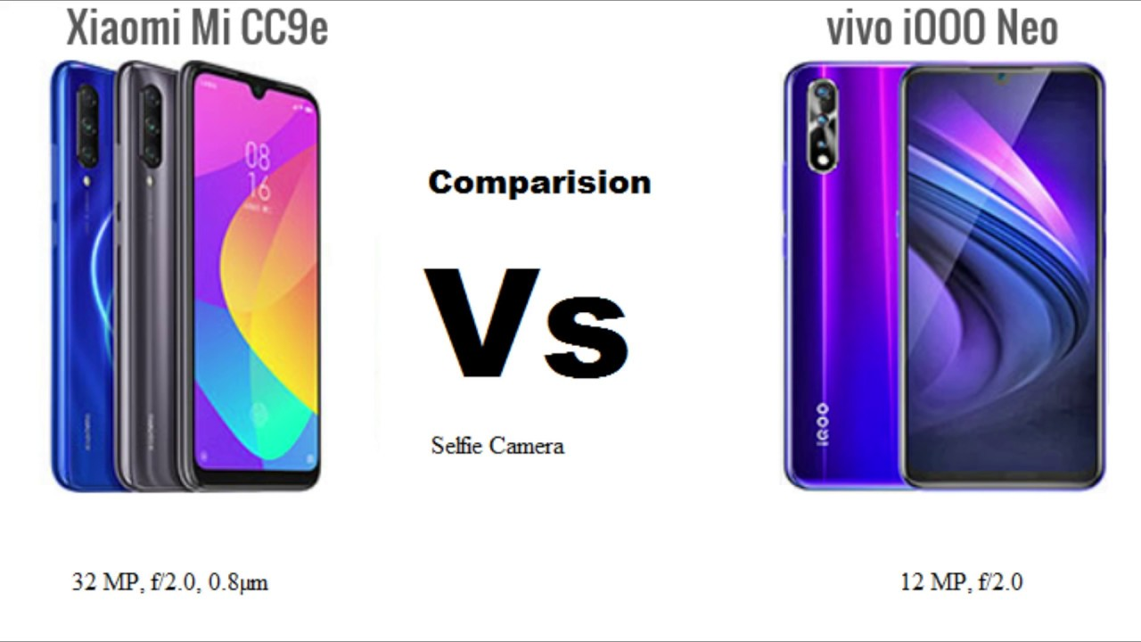 Xiaomi Mi CC9e Vs Vivo iQOO Neo Specification Comparison