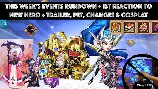 Idle Heroes - New Hero, Pet & More!  Reaction to Trailer and Shelter/Flower Cake Events Rundown
