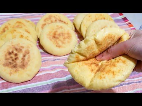 بطبوط-أوخبزالمقلاة-بطريقة-سهلة-و-ناجحة-|batbout-ou-pain-à-la-poêle