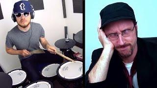 Nostalgia Critic & The Chipmunks (drum playthrough)
