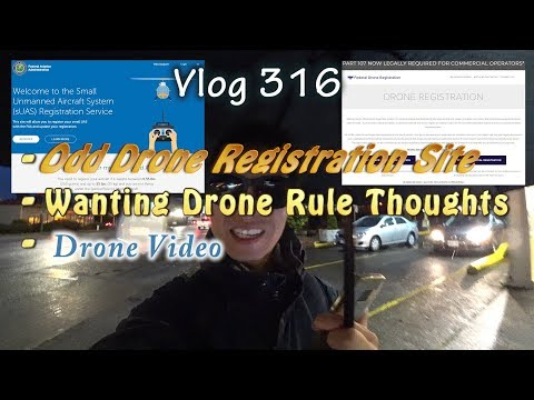 Odd Federal Drone Registration Site In The US And Wanting Drone Regulation News And Drone Video