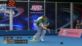Just. 2019 World Indoor Bowls Championships: Day 10 Session 1