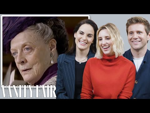 the-cast-of-downton-abbey-reviews-maggie-smith's-most-iconic-moments-|-vanity-fair