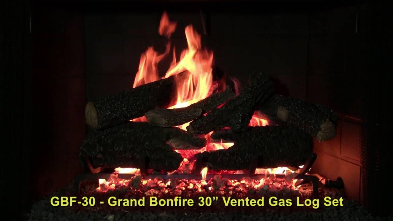 Grand Bonfire 30 Vented Gas Log Set By Golden Blount