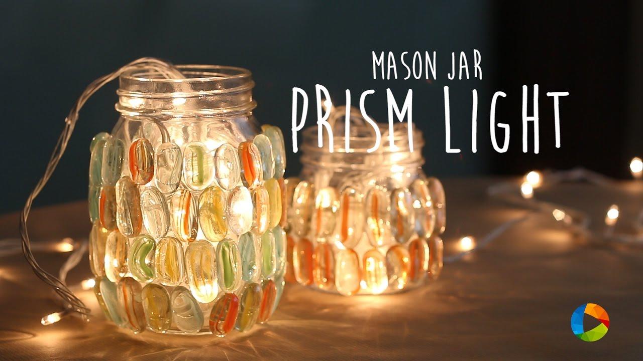 DIY Mason Jar Prism Light DIY diy