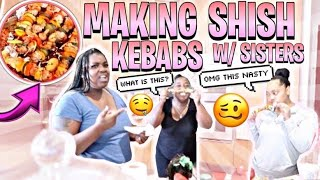"Making Shish Kebabs with Jaliyah & Meka , "" YOU WONT BELIEVE HOW THEY CAME OUT 😱!!"