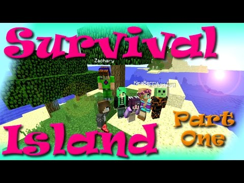 Minecraft | Survival Island Ep. 01 | SallyGreenGamer | and friends!