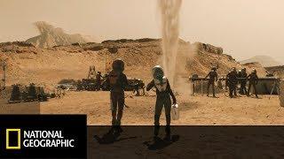Spod powierzchni Marsa w końcu wytrysnęła woda! [Mars 2]