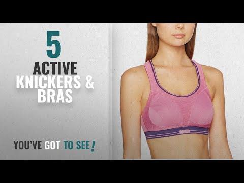 Top 10 Active Knickers & Bras [2018]: Shock Absorber Women's Ultimate Run Sports Bra, Pink/Purple,