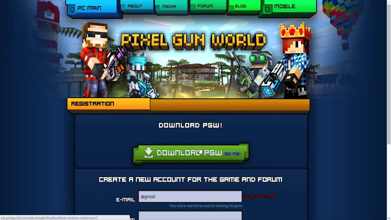 pixel gun world pc