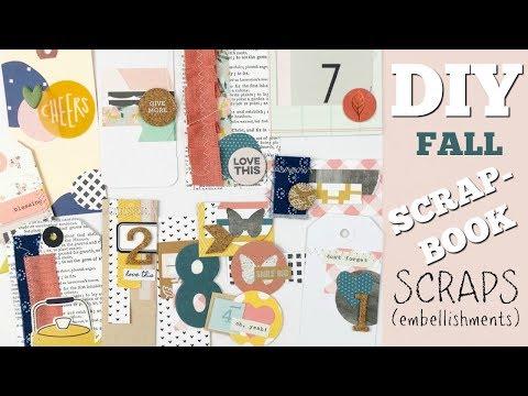 DIY (Fall) Embellishments | using SCRAPS!