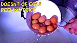 How to Peel Dozen of Eggs the Fastest Way