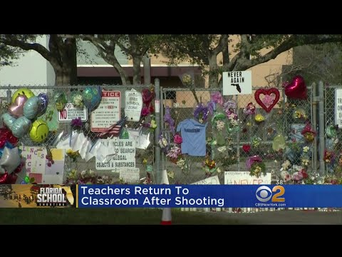 Teachers Return To School After Shooting