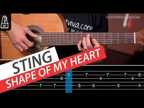 Shape Of My Heart Fingerpicking y acordes para guitarra Tutorial