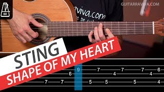 Shape Of My Heart Fingerpicking y acordes para guitarra Tutorial Video