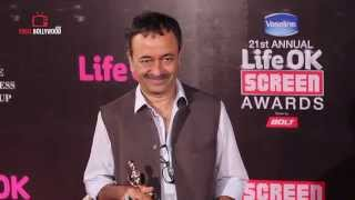 Rajkumar Hirani at Life Ok Screen Awards 2015 | Best Dialogue Award for Pk