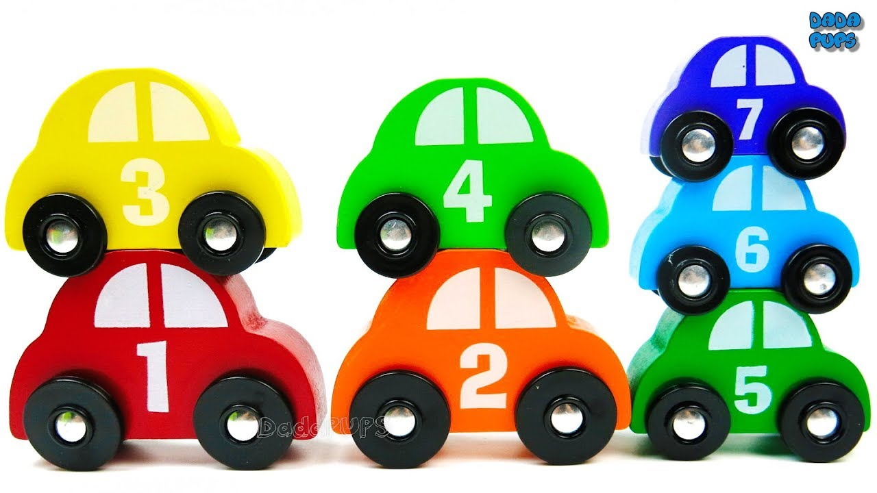 Learning to Counting 1 to 7 with wooden toys|Colours for Kids with ...