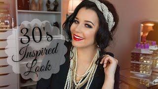 1930's Inspired Makeup Look