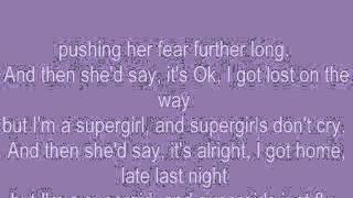 Reamonn Supergirl lyrics