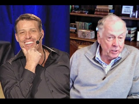 Motivational speaker and philanthropist Tony Robbins interviews T. Boone Pickens (Part 1)