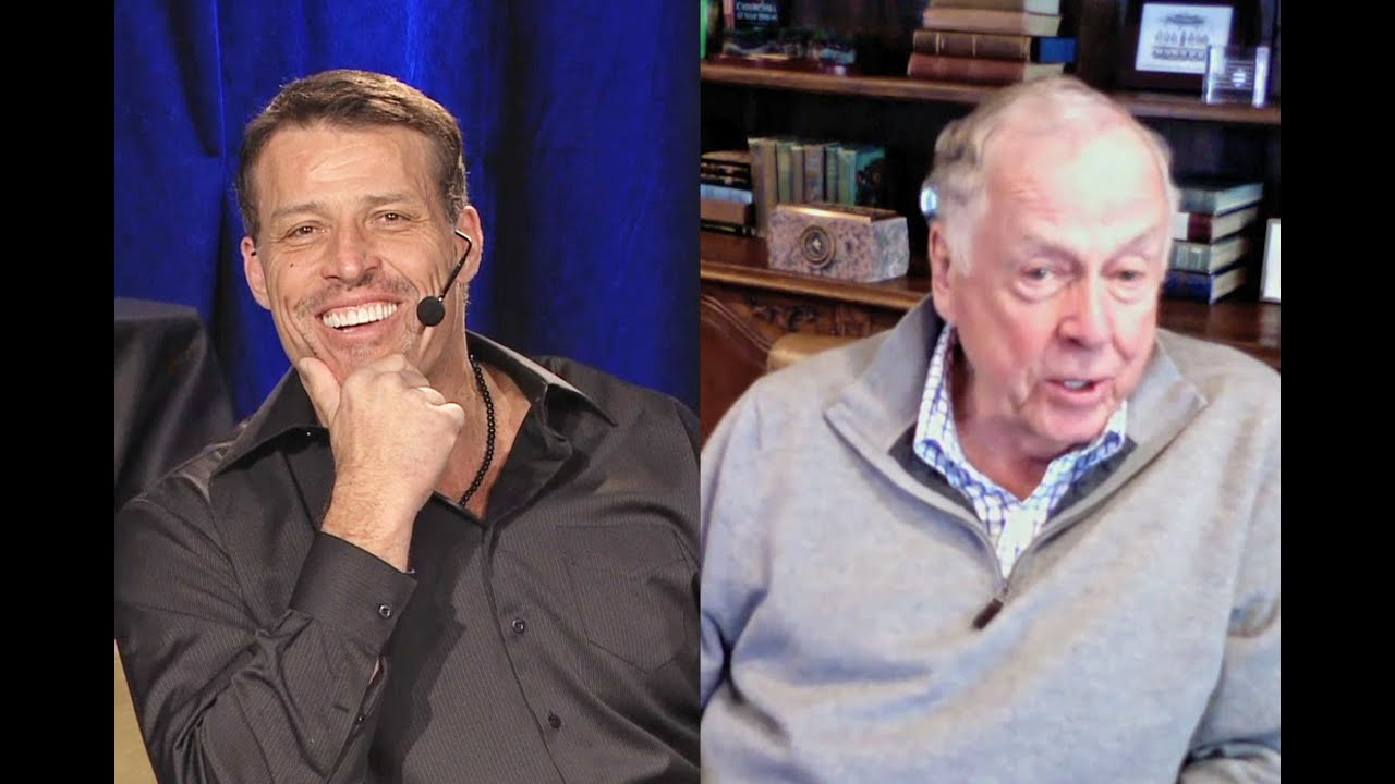 Motivational speaker and philanthropist Tony Robbins interviews T. Boone Pickens (Part 1)
