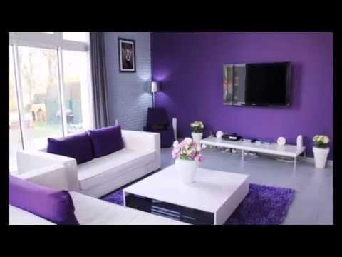 Décoration Salon Avec Des Accents Violets   YouTube