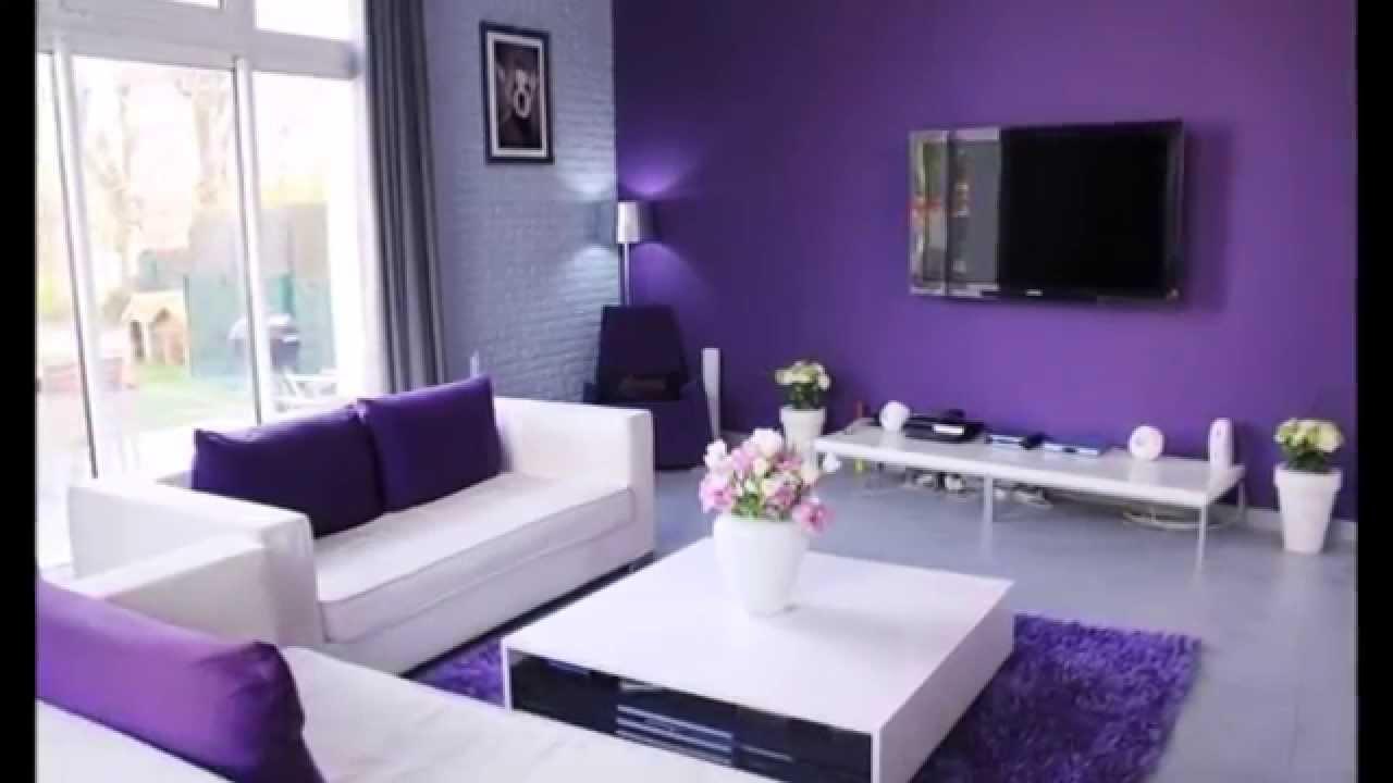 Dcoration Salon avec des accents violets  YouTube
