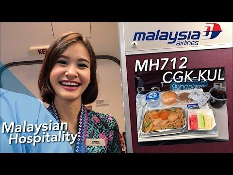 Malaysia Airlines Friendly Crew & Wonderful Flight MH 712 Jakarta to Kuala Lumpur - No BGM Mp3