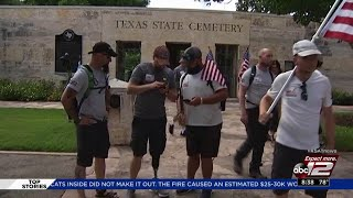 Video: Veterans walking 1,000 miles across country to stop in San Antonio