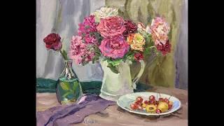 Презентация видео урока живописи Расцветают розы