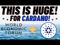 IMPORTANT: CARDANO ADA, THIS IS HUGE! WORLD ECONOMIC FORUM TALK CARDANO IN CRYPTO REPORT!(SERIOUSLY)