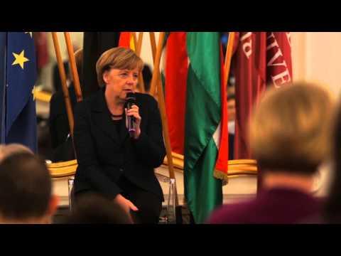Bundeskanzlerin Merkel an der Andrássy Universität Budapest (Deutsche ungekürzte Fassung)