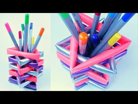 Back to school DIY Paper pencil holder / pen stand from waste material diy for kids for school