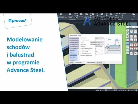 Modelowanie schodów i balustrad w programie Advance Steel | NetCafe