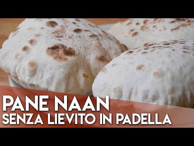 Ricetta Naan Giallo Zafferano.Pane Naan Senza Lievito Cotto In Padella Youtube