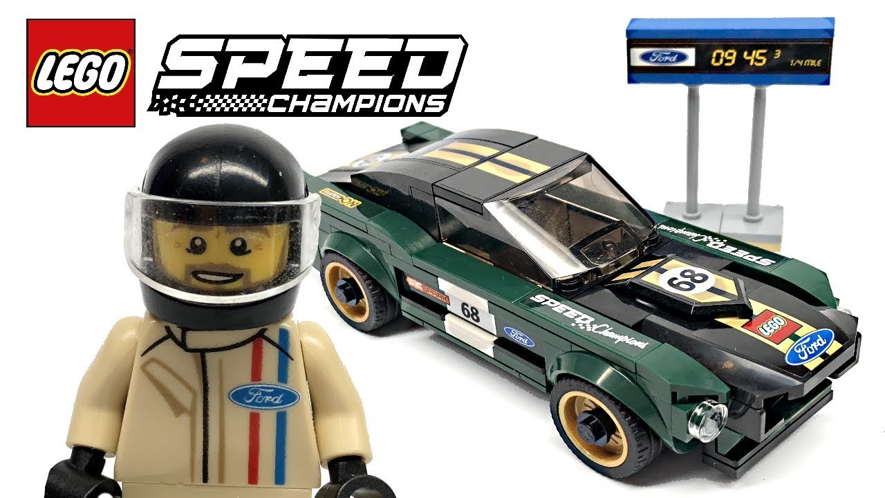 LEGO Speed Champions 1968 Ford Mustang Fastback review! 2018 set 75884!