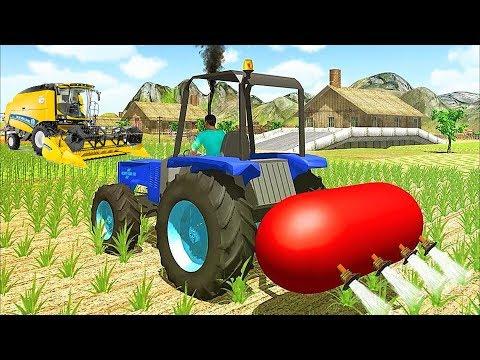 Мультфильмы для детей - Синий #трактор #Ферма Сбор Урожая - Развивающие #мультики про машинки 2017