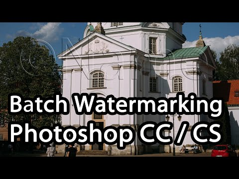 How To Batch Watermark Photos In Photoshop CC / CS