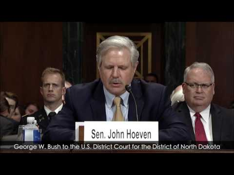 Senator Hoeven and Judge Ralph Erickson at Judiciary Committee Hearing